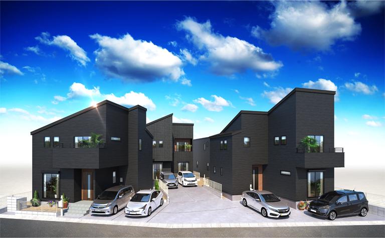 エテルノコート志津 上志津外観パース_変更 新築 デザイン住宅 不動産 ローン相談承っております。