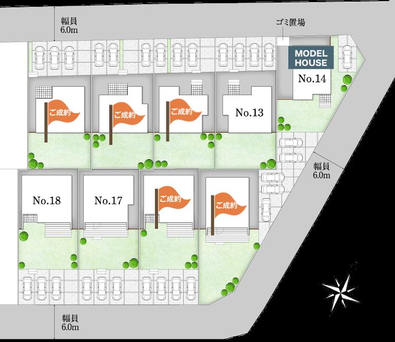ドリームフィールド成田 - 区画配置図